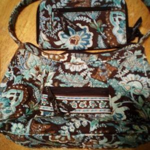 Vera Bradley purse w/matching wallet